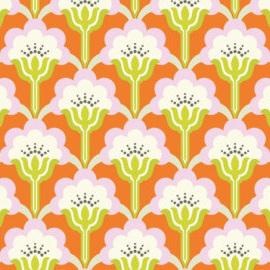 Mod Flower Persimmon