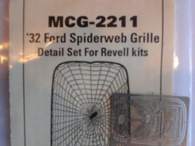 Model Car Garage 32 Ford Spiderweb Grille