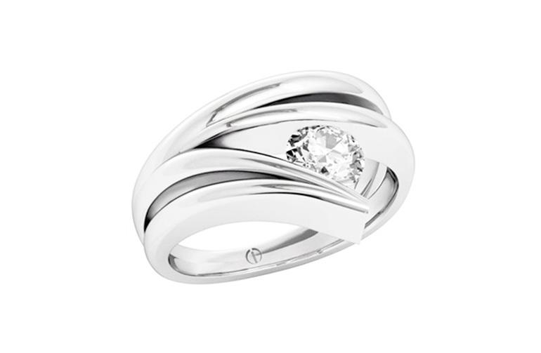 Modern Brilliant Cut Diamond Ring
