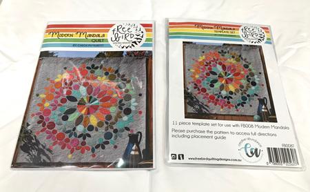 Modern Mandela Quilt Pattern and Template Set Bundle