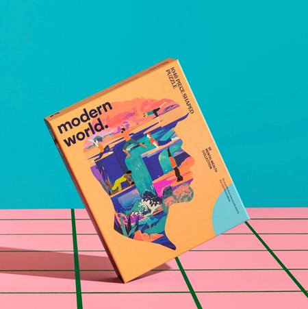 Modern World 1046 Shaped Mental Health Jigsaw Puzzle - Mindful