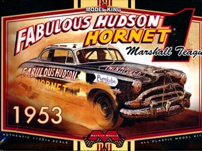 """Moebius 1/25 1953 Hudson Marshall Teague's """"Fabulous"""" Hudson Hornet Racer"""