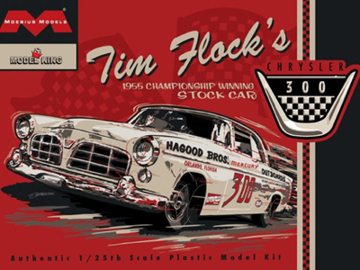 Moebius 1/25 1955 Tim Flock Chrysler Stock Car