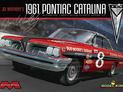 Moebius 1/25 1961 Pontiac Catalina Lil Joe Weatherly Stock Race Car