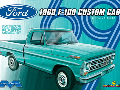 Moebius 1/25 1969 Ford F-100 Custom Shortbed Pickup