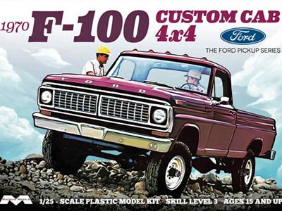 Moebius 1/25 1970 Ford F-100 Custom Cab 4 x 4 Pickup
