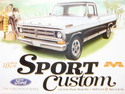 Moebius 1/25 '72 Ford Sport Custom Pick Up