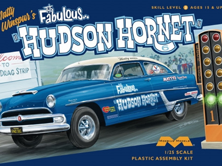 Moebius 1/25 Matty Winspur's 1954 Hudson Hornet Junior Stock Class Racer