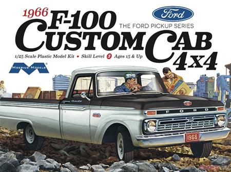 Moebius 1/25 1966 Ford F-100 Custom Cab 4X4 (MOE1236)