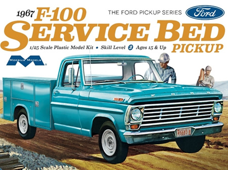 Moebius 1/25 1967 Ford F-100 Service Bed Pickup  (MOE1239)