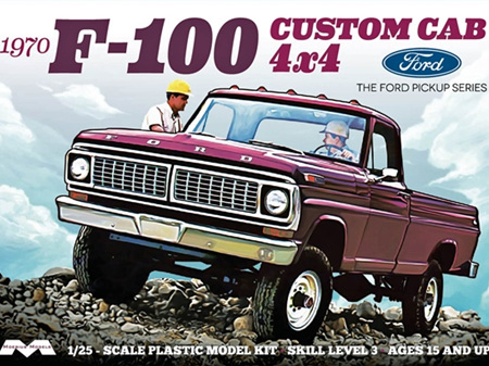 Moebius 1/25 1970 Ford F-100 Custom Cab 4 x 4 Pickup
