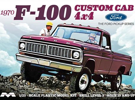 Moebius 1/25 1970 Ford F-100 Custom Cab 4x4 (MOE1230)
