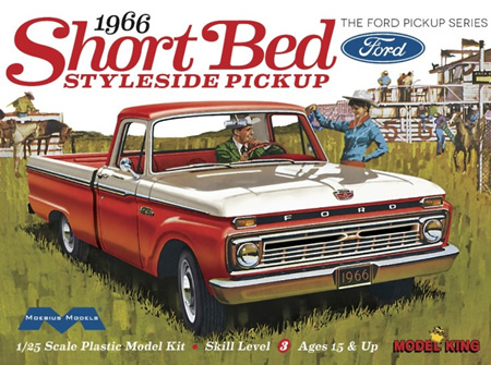 Moebius/Model King 1/25 1966 Short Bed Ford Styleside Pickup (MDK1233)
