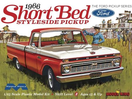 Moebius/Model King 1/25 1966 Short Bed Ford Styleside Pickup (MDK1233)