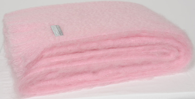 Mohair Knee Rug - Candy Floss