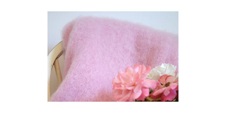 Mohair Knee Rug - Candy Floss