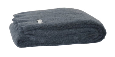 Mohair Knee Rug - Charcoal