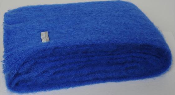 Mohair Knee Rug - Cobalt Blue