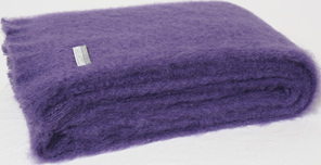 Mohair Knee Rug - Grape