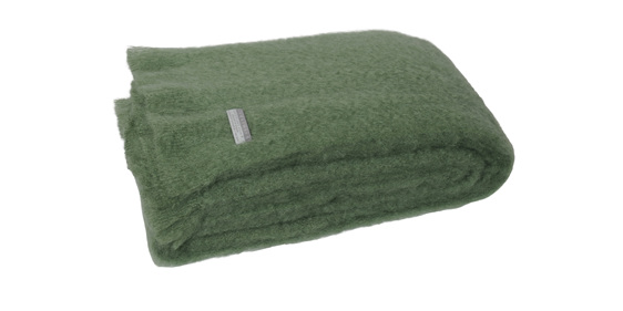 Mohair Knee Rug - Olive
