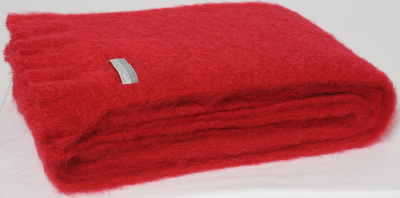 Mohair Knee Rug - Ruby