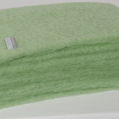 Mohair Throw Blanket - Apple