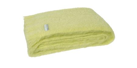 Mohair Throw Blanket - Avocado