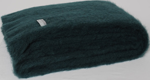 Mohair Throw Blanket - Bottle