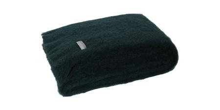 Mohair Throw Blanket - Bottle