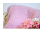 Mohair Throw Blanket - Candy Floss