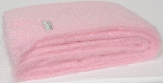 Mohair Throw Blanket - Candy Floss