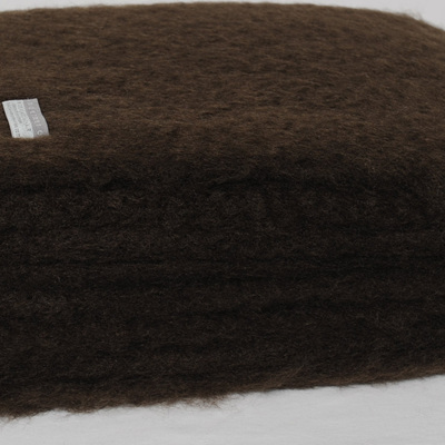Mohair Throw Blanket - Chocolate