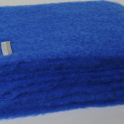 Mohair Throw Blanket - Cobalt Blue