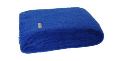 Mohair Throw Blanket - Cobalt Blue