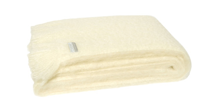Mohair Throw Blanket - Cream