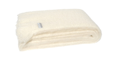 Mohair Throw Blanket - Dove