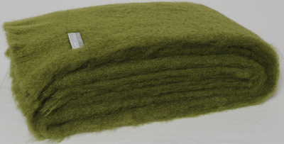 Mohair Throw Blanket - Fern