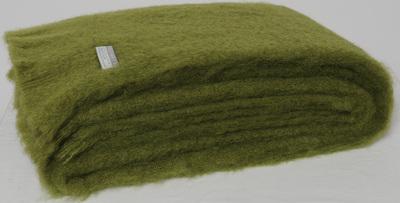 Mohair Throw Blanket - Fern