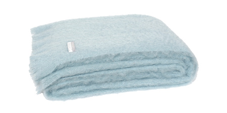 Mohair Throw Blanket - Glacier