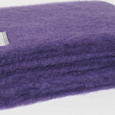 Mohair Throw Blanket - Grape