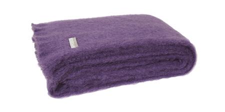 Mohair Throw Blanket - Grape