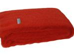 Mohair Throw Blanket - Hibiscus