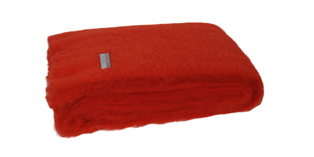 Mohair Throw Blanket - Hibiscus
