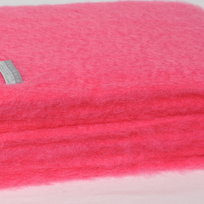 Mohair Throw Blanket - Hot Pink