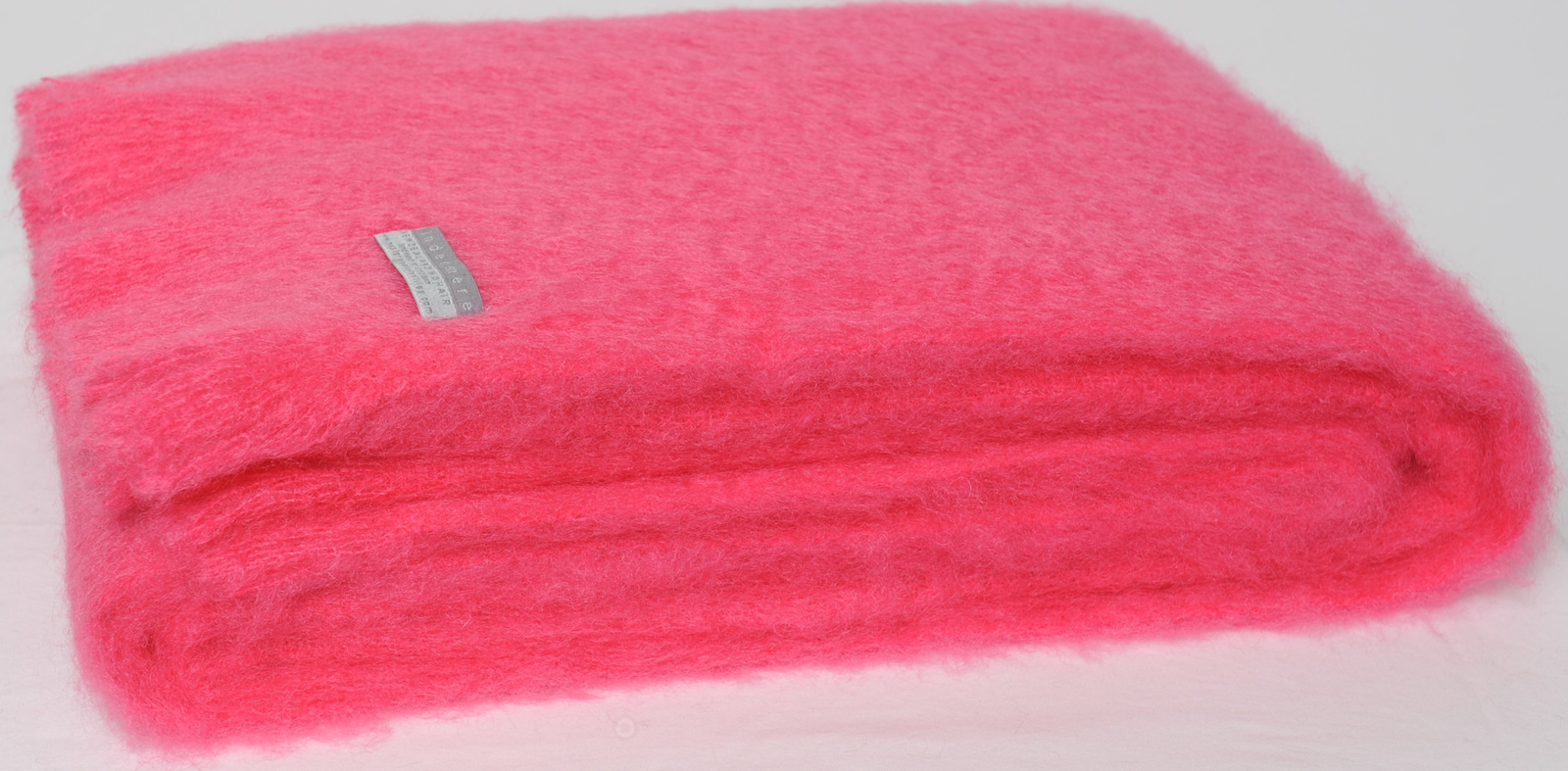 Mohair Throw Blanket Hot Pink