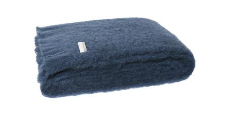 Mohair Throw Blanket - Indigo