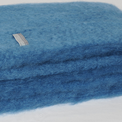 Mohair Throw Blanket - Lake