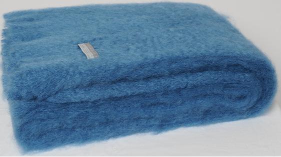 Mohair Throw Blanket - Lake