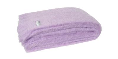 Mohair Throw Blanket - Lilac