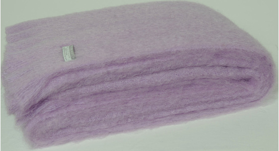Mohair Throw Blanket - Lilac